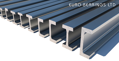 rail for combined roller bearings