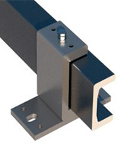 flanged mounting clamp