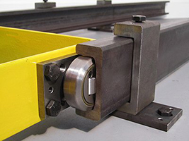 combined roller bearings mounting plate rails