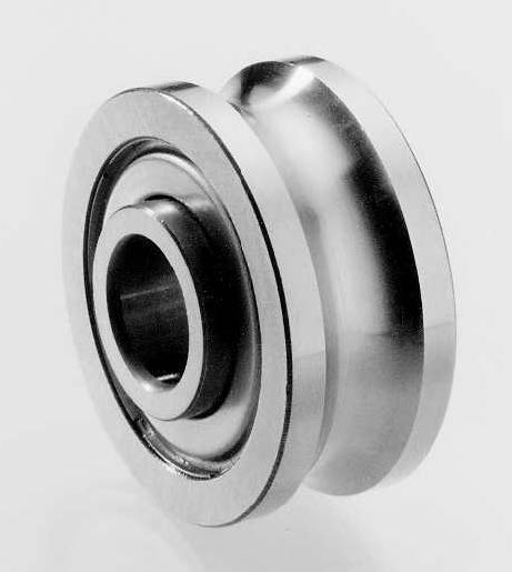 Track Bearings For Use On Circular Linear Bearing Shafts