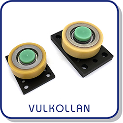 Vulkollan combined roller bearings