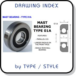 fork truck mast bearings drawing index