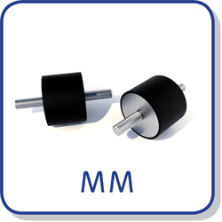 male male anti vibration mounts bobbins