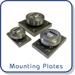 mounting plates for combined roller bearings
