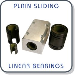 Plain (dry) sliding linear bearings