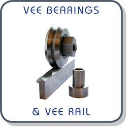 Vee bearings, bushes and rails