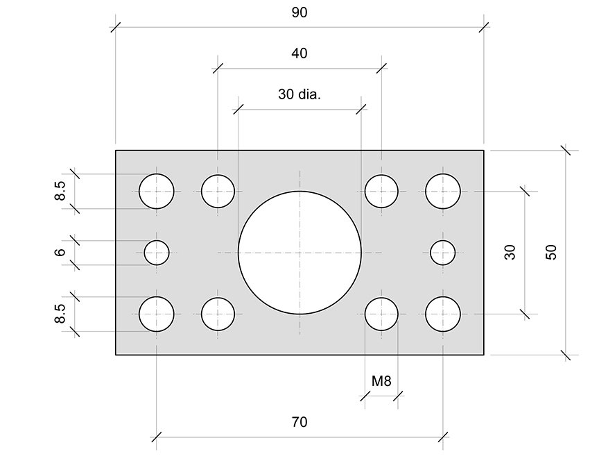 Plate PL00 for combined roller bearings